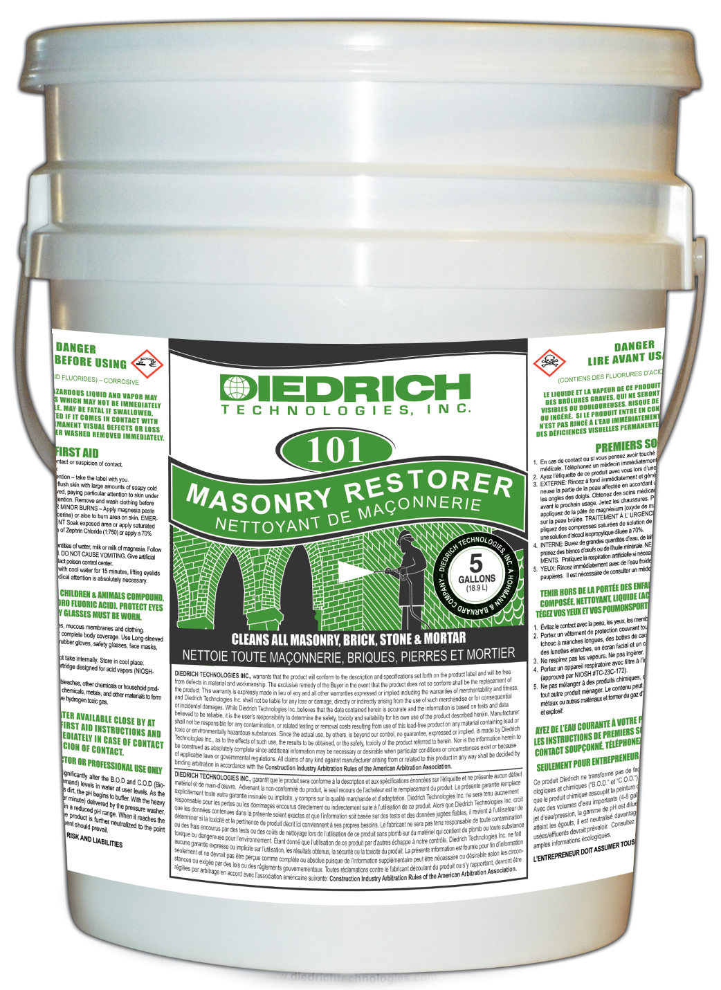5 Gallon Container of 101 Masonry Restorer Super Concentrate
